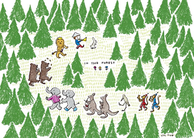 森のなか--マット和子